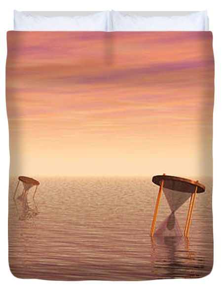Awash in Time Duvet Cover by Jerry McElroy