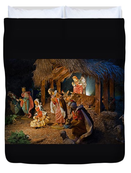 Away In The Manger  Duvet Cover by Susan  McMenamin