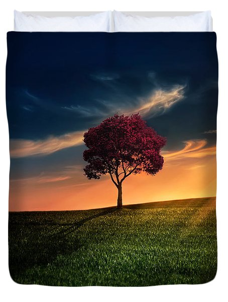 Awesome Solitude Duvet Cover by Bess Hamiti