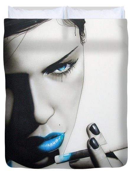 'azure Addiction' Duvet Cover by Christian Chapman Art