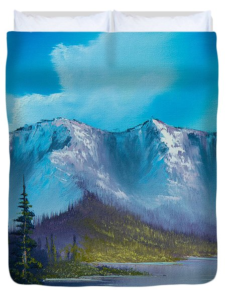 Azure Ridge Duvet Cover by C Steele