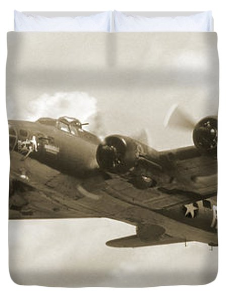 B-17 Flying Fortress Duvet Cover by Mike McGlothlen