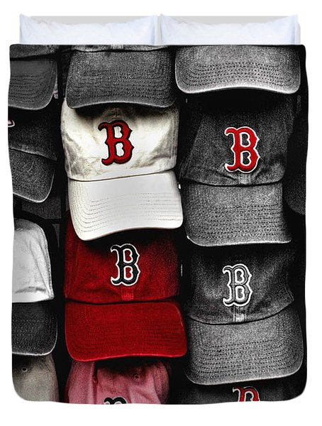 B for BoSox Duvet Cover by Joann Vitali