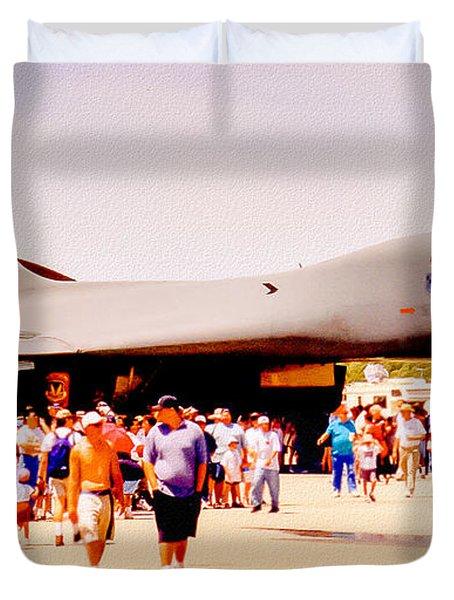 B1 Lancer El Toro Marine Base California Duvet Cover by Bob and Nadine Johnston