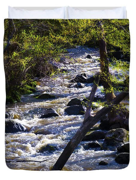Babbling Brook Duvet Cover by Bill Cannon