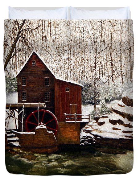 Babcock Mill In The Snow Duvet Cover by Timothy Smith