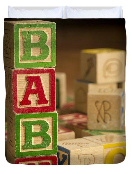 Baby Blocks Duvet Cover by Edward Fielding