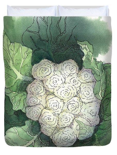 Baby Cauliflower Duvet Cover by Maria Hunt