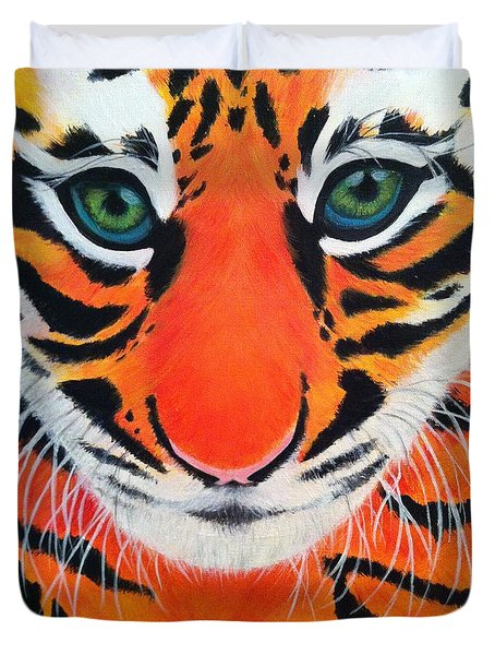 Baby Tiger Duvet Cover by Lisa Bentley