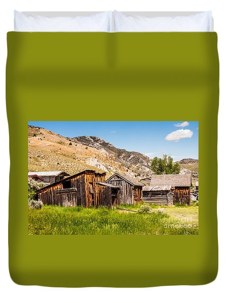 Bachelors Row Duvet Cover by Sue Smith