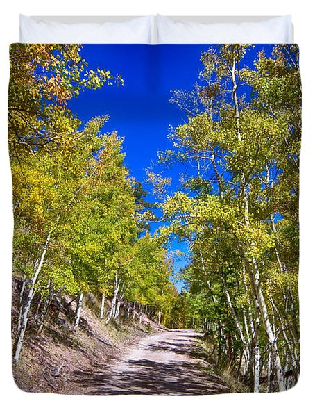 Back Country Road Take Me Home Colorado Duvet Cover by James BO  Insogna