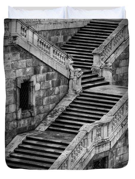 Back Entrance Duvet Cover by Joan Carroll