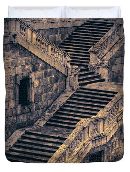 Back Entrance Redux Duvet Cover by Joan Carroll