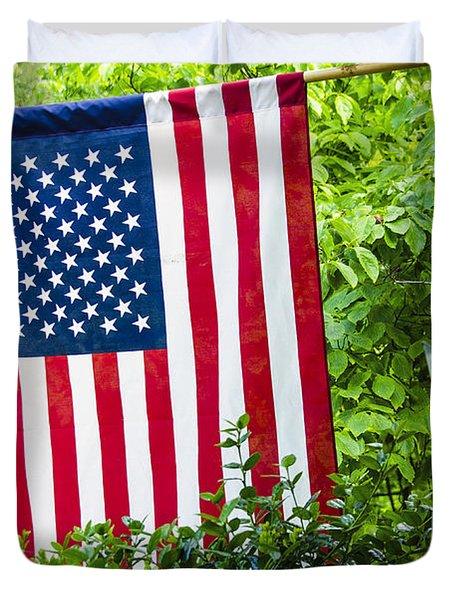 Back Porch Americana Duvet Cover by Carolyn Marshall