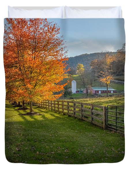Back Roads Duvet Cover by Bill  Wakeley