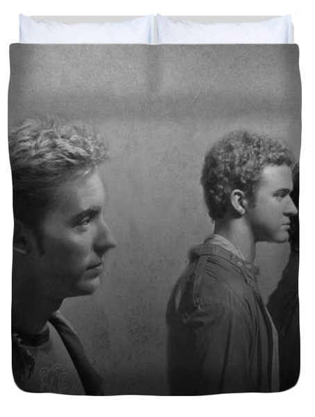 Back Stage With Nsync Bw Duvet Cover by David Dehner
