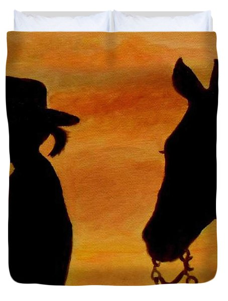 Back To The Barn Duvet Cover by Julie Brugh Riffey