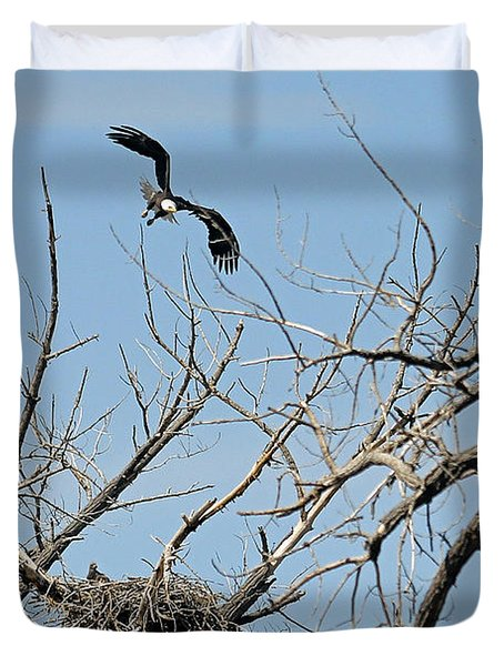 Back To The Nest Duvet Cover by Bob Hislop