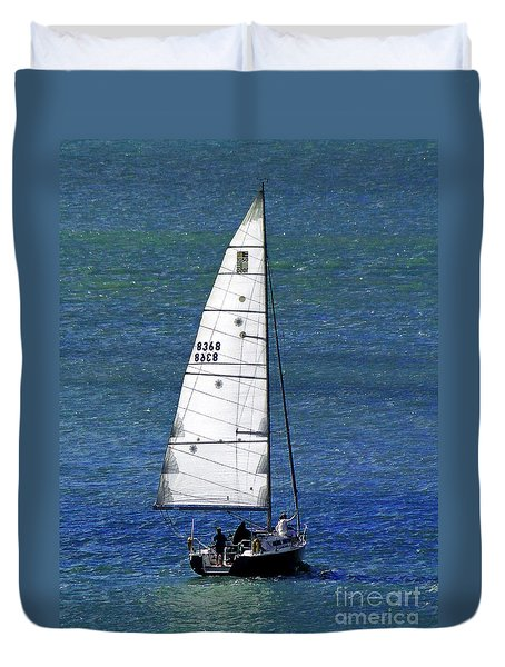 Backlit By The Sun Duvet Cover by Sue Melvin