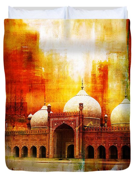 Badshahi Mosque or The Royal Mosque Duvet Cover by Catf
