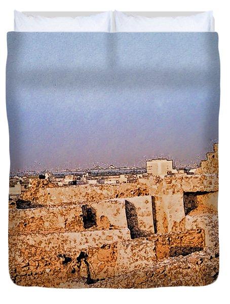 Bahrain Fort  Duvet Cover by First Star Art