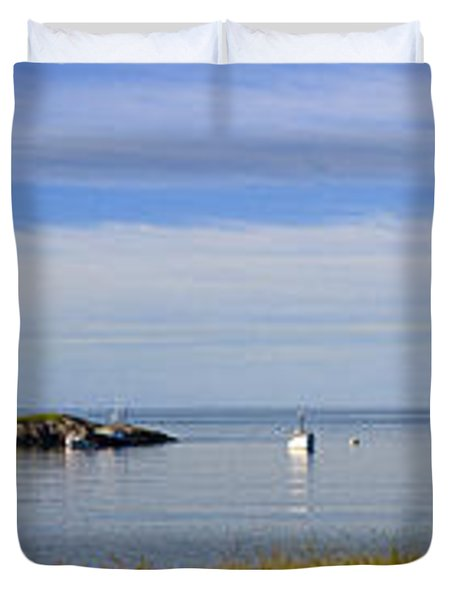 Bailey's Mistake Panorama Duvet Cover by Marty Saccone