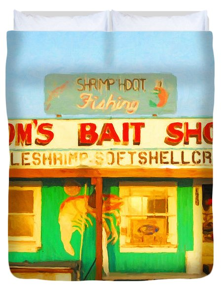 Bait Shop 20130309-1 Duvet Cover by Wingsdomain Art and Photography