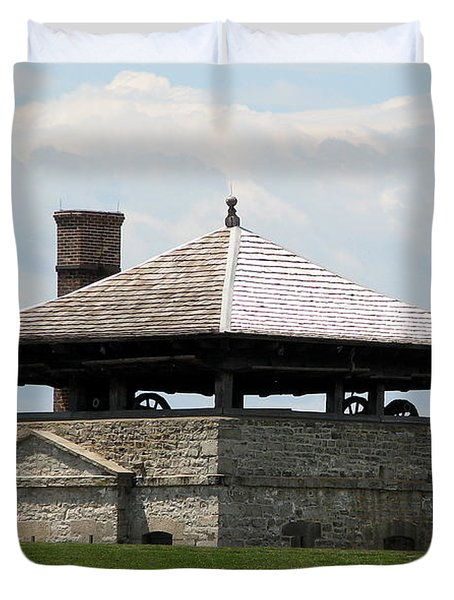 Bake House At Old Fort Niagara Duvet Cover by Rose Santuci-Sofranko