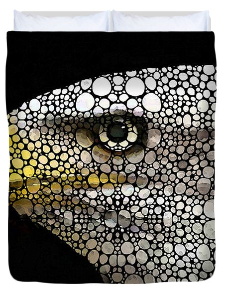 Bald Eagle Art - Eagle Eye - Stone Rock'd Art Duvet Cover by Sharon Cummings