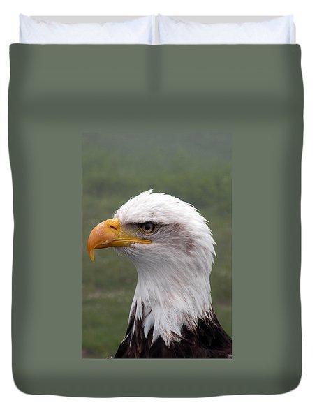 Bald Eagle Portrait Duvet Cover by Brian Chase