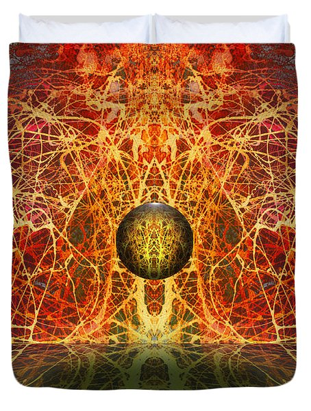 Ball and Strings Duvet Cover by Otto Rapp