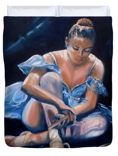 Ballerina II Duvet Cover by Donna Tuten