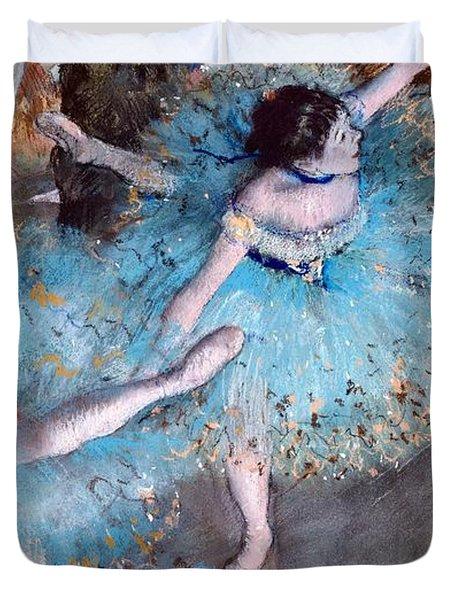 Ballerina On Pointe  Duvet Cover by Edgar Degas
