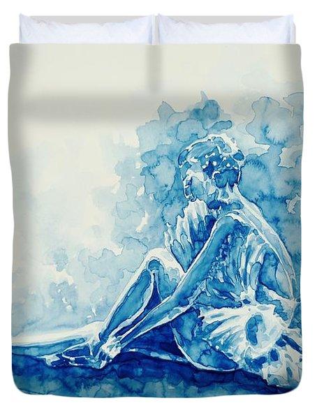 Ballerina  Duvet Cover by Zaira Dzhaubaeva