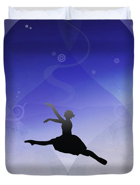 Ballet In Solitude  Duvet Cover by Bedros Awak