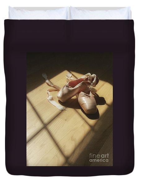 Ballet Slippers Duvet Cover by Diane Diederich
