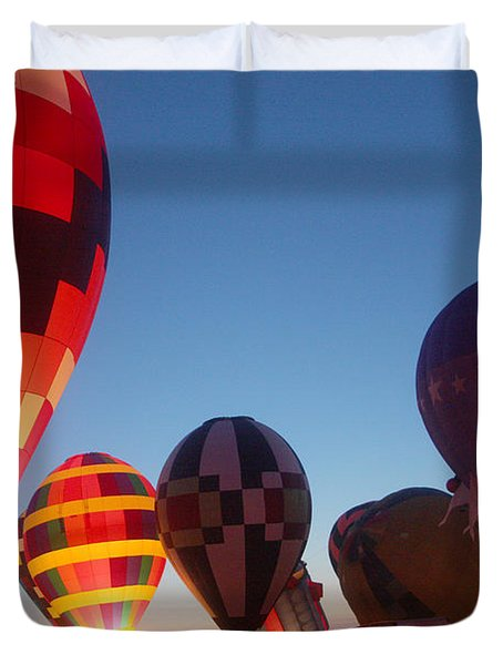 Balloon-glow-7783 Duvet Cover by Gary Gingrich Galleries