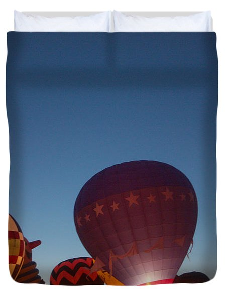 Balloon-glow-7808 Duvet Cover by Gary Gingrich Galleries
