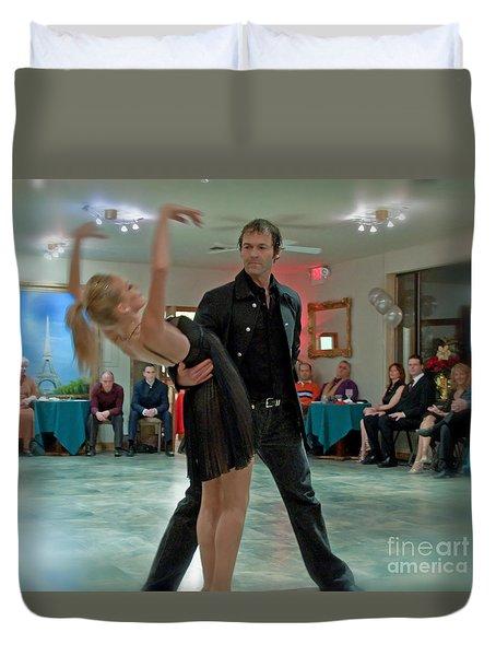 Ballroom Dancers Duvet Cover by Valerie Garner
