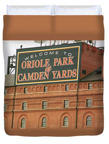 Baltimore Orioles Park At Camden Yards Duvet Cover by Frank Romeo