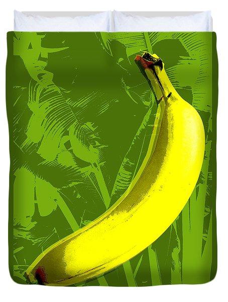 Banana Pop Art Duvet Cover by Jean luc Comperat