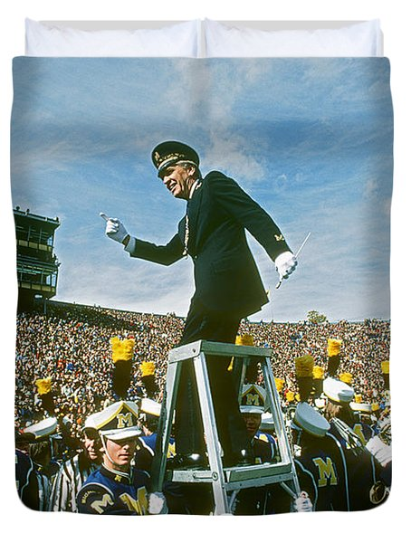 Band Director Duvet Cover by James L. Amos