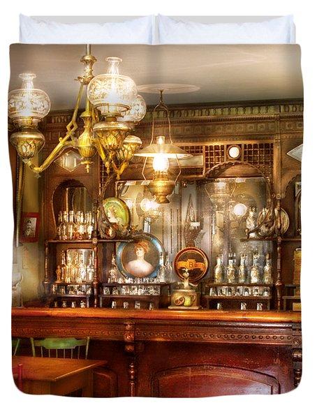Bar - Bar and Tavern Duvet Cover by Mike Savad