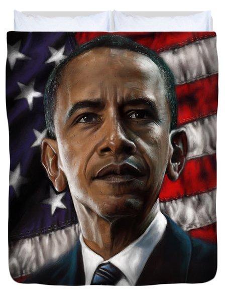 Barack Obama Duvet Cover by Andre Koekemoer