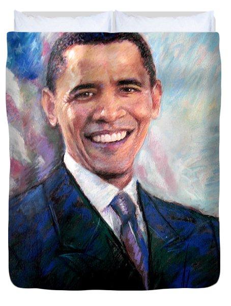 Barack Obama Duvet Cover by Viola El