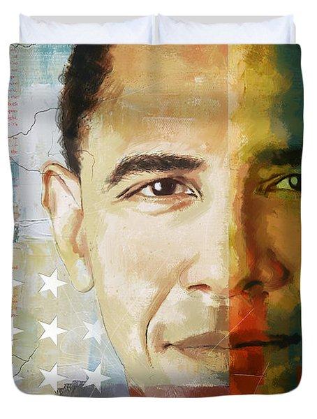 Barack Obama Duvet Cover by Corporate Art Task Force