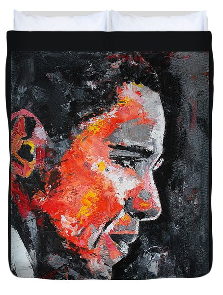 Barack Obama Duvet Cover by Richard Day