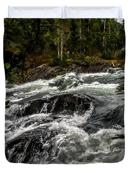 Baranof River Duvet Cover by Robert Bales