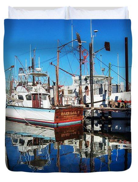 Barb Gail Harbor Corner Duvet Cover by Michael Thomas