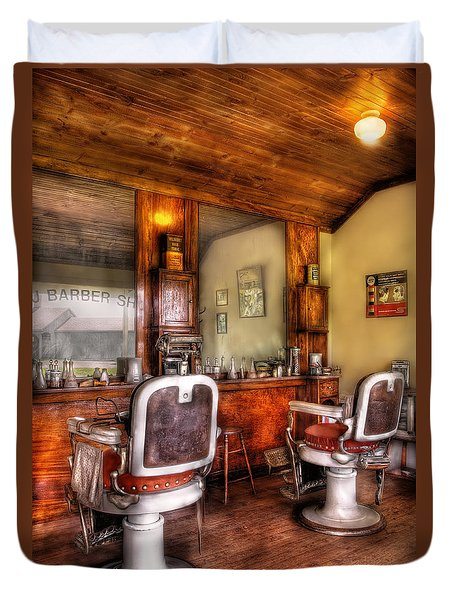 Barber - The Barber Shop II Duvet Cover by Mike Savad